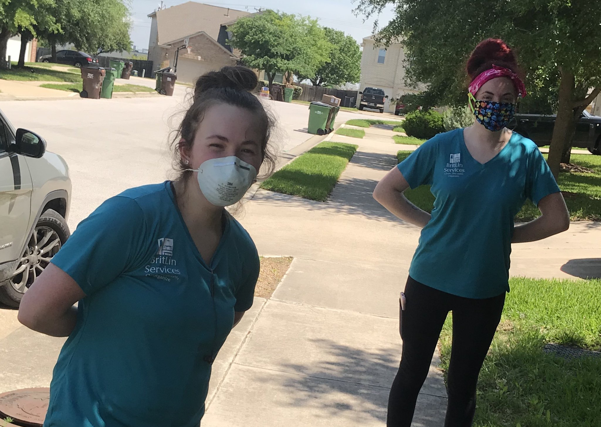britlin cleaning, maids near me, austin tx maid, austin tx cleaning service, get my house cleaned, workers in masks, cleaners in masks, n95 mask, cloth mask